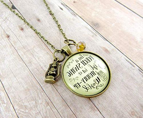 Swing Girl A Hurry World Girl Necklace Southern Lantern Charm