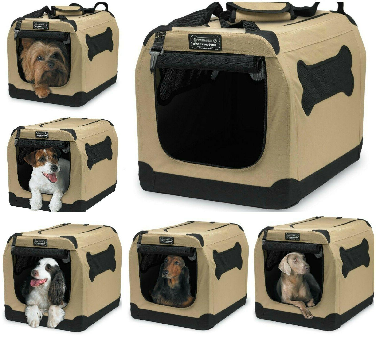 Indoor Pet Crate Home Portable Kennel Outdoor Dog Fabric Cag