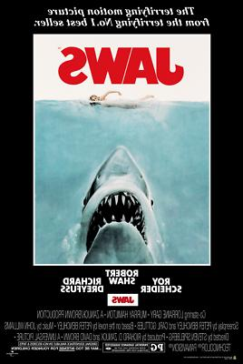 jaws movie poster 24 inch by 36