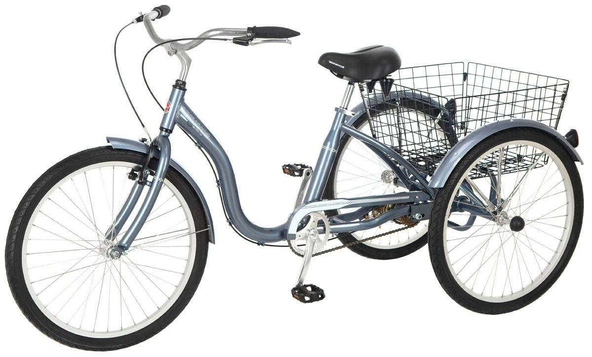 meridian adult comfortable tricycle 24 inch wheels