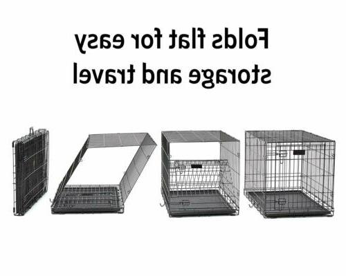 MidWest Homes for Dog Crate Single &Double Folding
