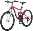 Girls Mountain Bike 24-inch Pink 21-speed Bicycle Off Road F