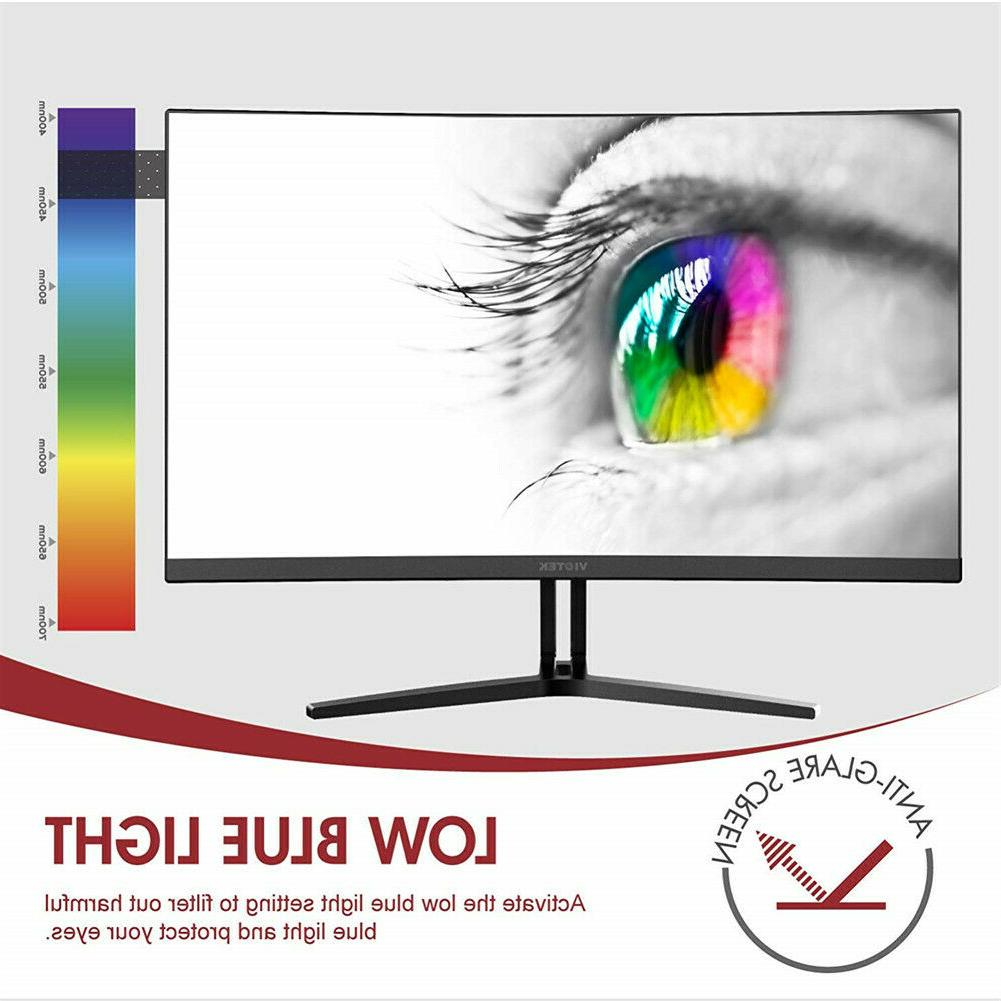 VIOTEK Curved Monitor Speakers Bezel-Less