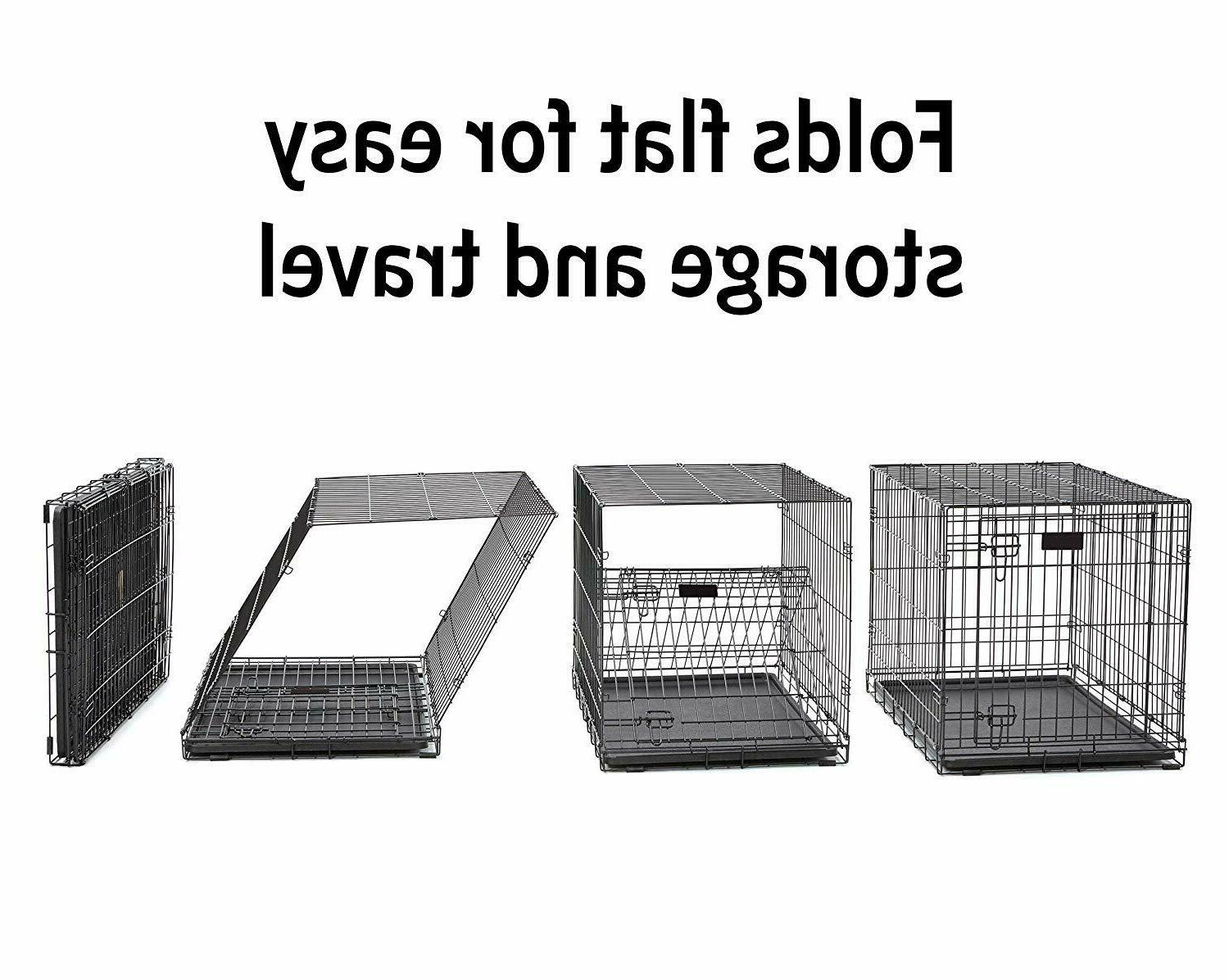 New Folding Metal Dog Crate; Single Dog 24-Inch