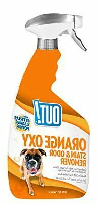 OUT!! Orange Oxy Stain and Odor Remover, 32 oz, USA Made
