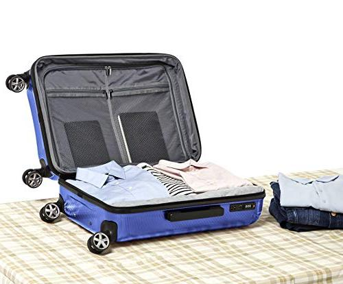AmazonBasics Oxford Luggage Suitcase Spinner, 24-Inch,