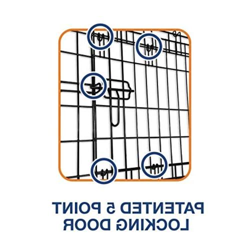 "Petmate ""ProValu"" Wire Crate, Two Doors, Lock 6 Sizes"