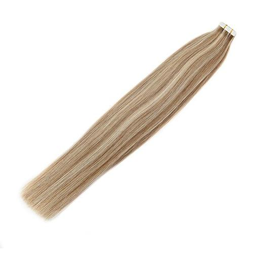 Moresoo 24 Hair in Human Color Medium Brown #60 50G 20PCS on Extensions Real Hair