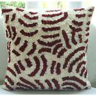 "Ribbon Art Work Red Pillows Cover, Art Silk 14""x14"" Pillow C"