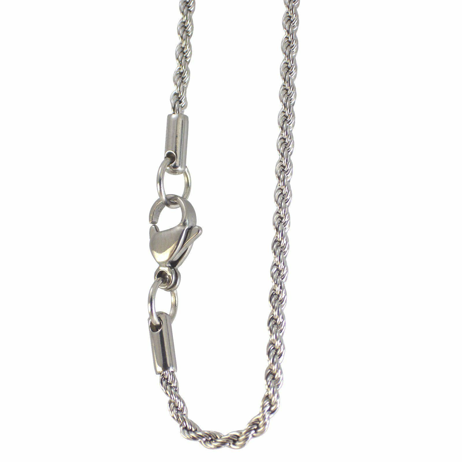 Rope Chain Necklace Surgical Stainless Steel 2mm 16-24 Inch