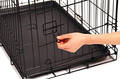 AND FOLDABLE Metal Dog Crate,