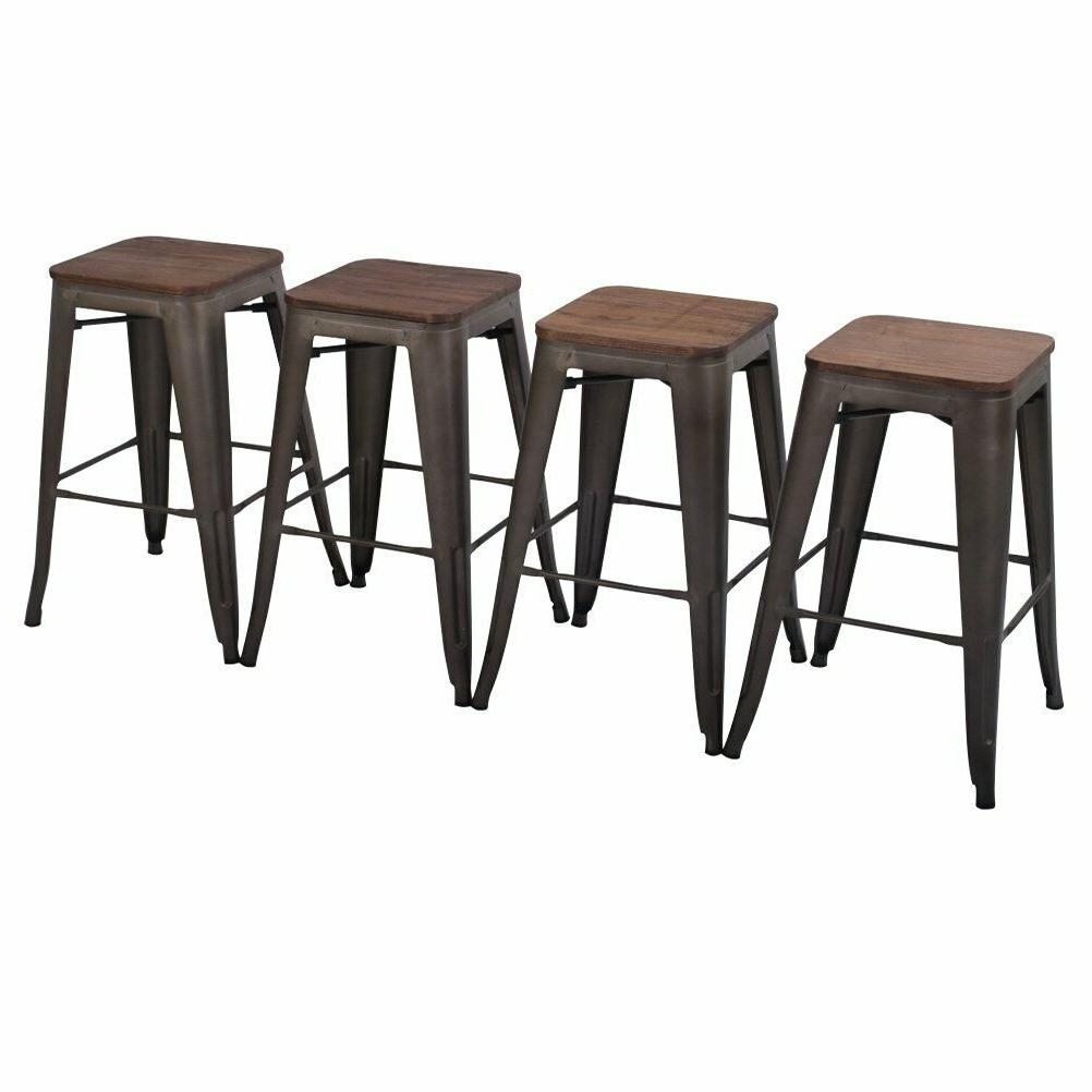 Metal Stackable Barstool Kitchen Stool