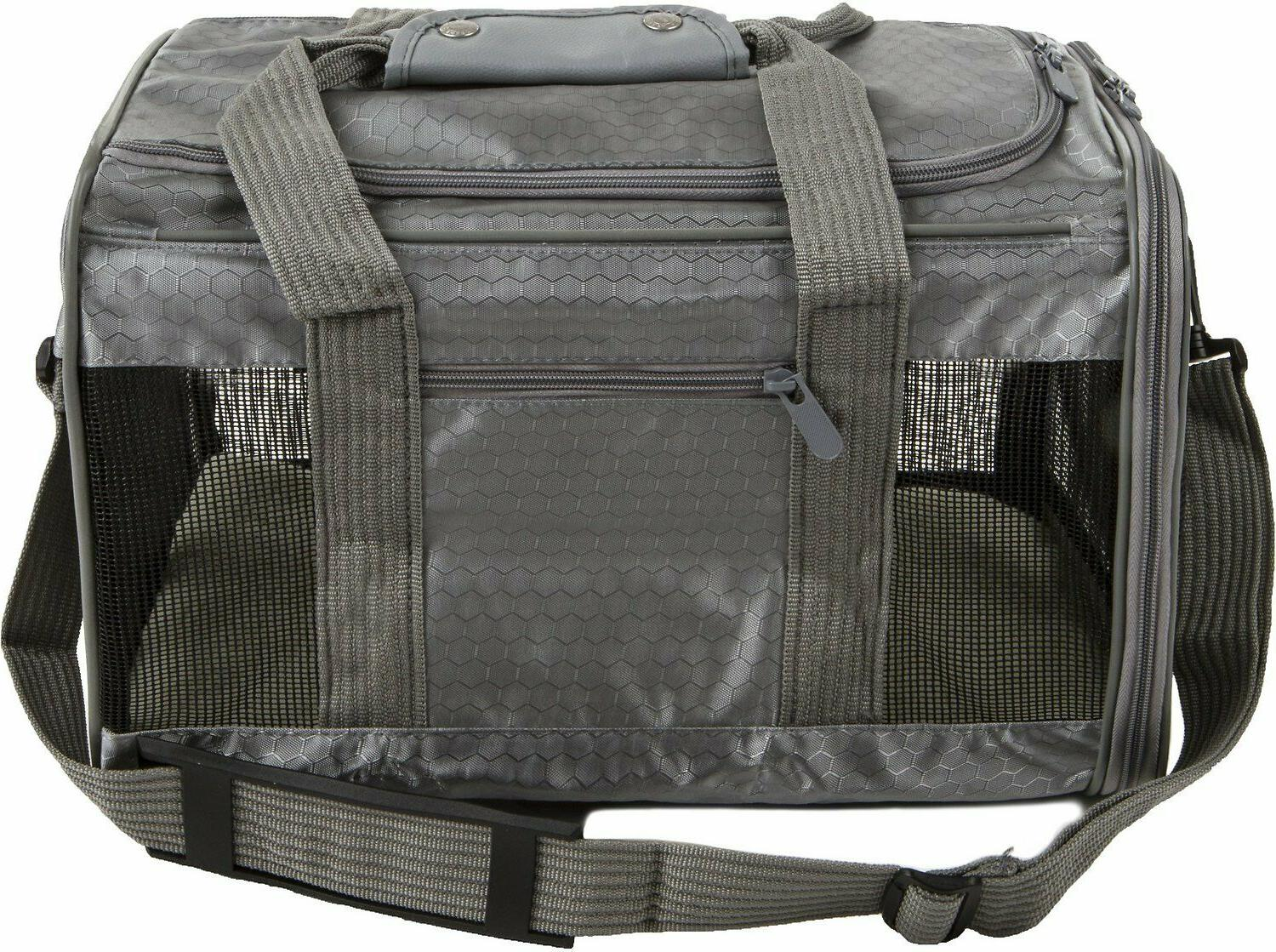 sherpa s pet carrier collapsible med gray