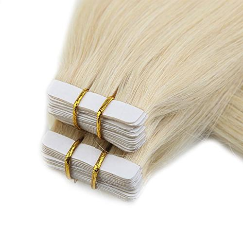 Full Per Package Tape Human Extensions Hair Human Extensions Grade 7A Brazlian Remy Hair
