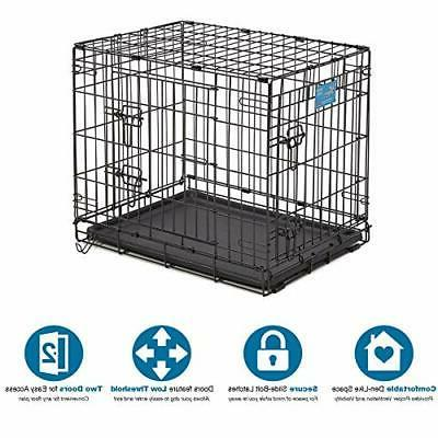 Small Dog Crate MidWest Life 24-Inch w/Divider Double