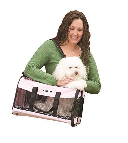 Petmate Soft-Sided Small Carrier Two Easy-Open Colors 2 Sizes