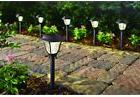 6-Pack Solar LED Pathway Light Set Outdoor Walkway Yard Path