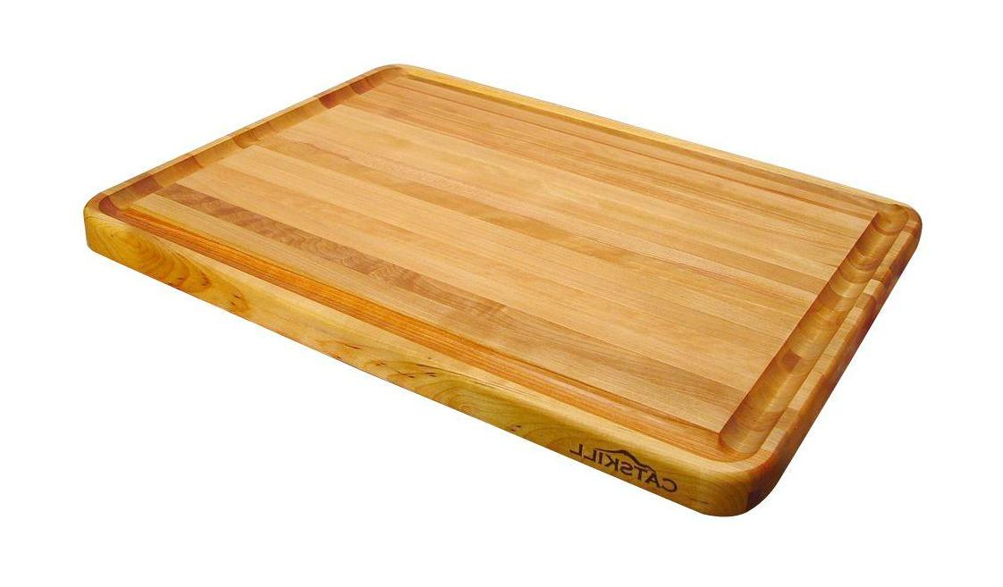Solid Wood Reversible Cutting Board w Trench Professional Cu