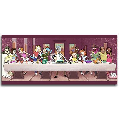The Last Supper Rick and Morty Cartoon Anime Silk Print Post