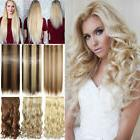 Thick 100% Real Clip In Hair Extensions Full Head Human Thic