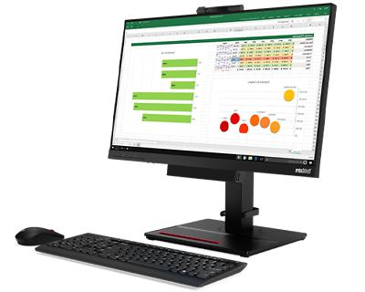 Lenovo 24 Inch Monitor and Webcam