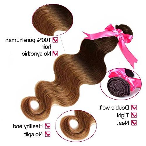 BODY WAVE Brazilian Bundle Pack Wavy 100% Human Two