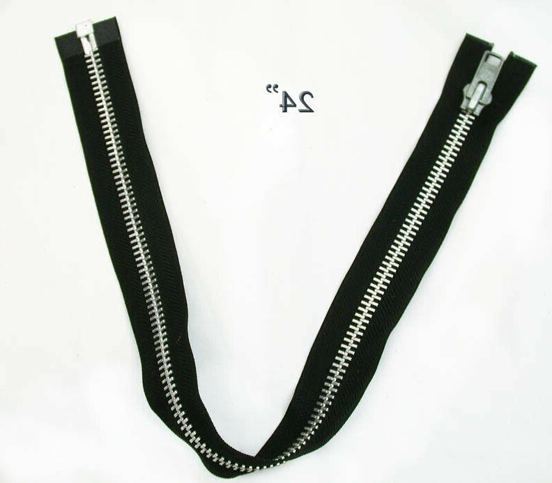 zipper 24 inch black and aluminum silver