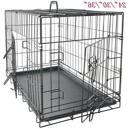 Large Medium Small Dog Pet Crate Kennel Portable Cage Heavy