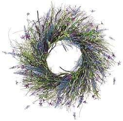 24 Inch Artificial Lavender, Fern, Spring Flowers and Wild G