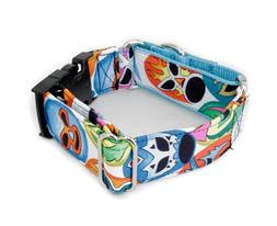 Lucha Libre Wrestling Dog Collar Buckle & Martingale  Caninu