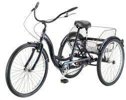 Mackinaw Adult Comfortable Tricycle 24-inch Wheels w/ Rear S