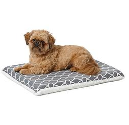 Midwest Geo/fleece Reversible Crate Pad With Teflon Gray 24