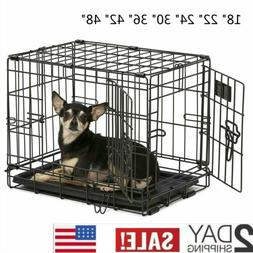 MidWest Homes iCrate Double Door Folding Metal Dog Crates 18
