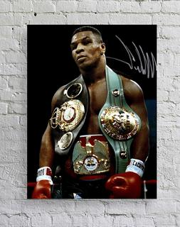 Mike Tyson with Belts Poster Standard Size, Mike Tyson Poste
