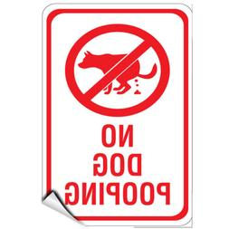 No Dog Pooping Style 2 Pet Animal Sign LABEL DECAL STICKER