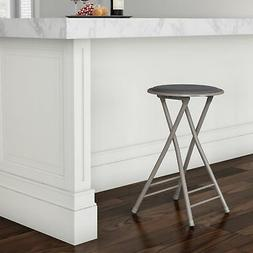 Padded 24 Inch Cushioned Folding Stool Holds 300 Lbs Extra S