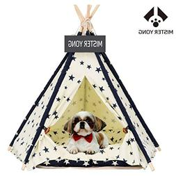 Yongs Pet Cat Dog Rabbit Teepee with  Cushion,Portable Puppy