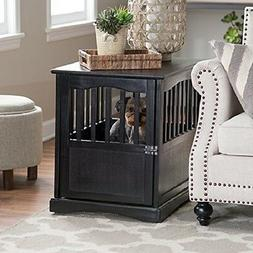 Pet Crate End Table, Small , Black