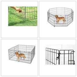 Pet Fence Gate Indoor Outdoor Protable 24Inch Folding Puppy