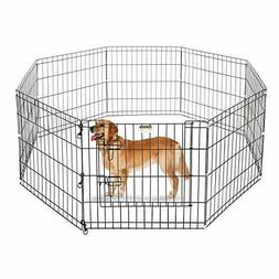 Pet Playpen Dog Puppy Fences Gate Portable Folding Exercise