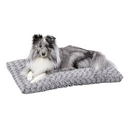 Plush Dog Bed | Ombré Swirl Dog Bed & Cat Bed | Gray 29L x