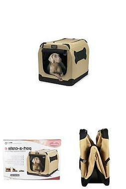 """Port A Crate Pop Up Large 36"""" Dog Bed Kennel Portable Travel"""