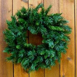 24 inch Princess Pine Mixed Needle Artificial Wreaths