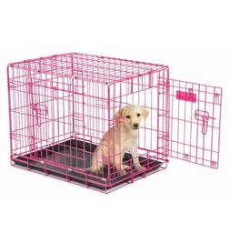 Puppy Crate Pet Dog Cage Kennel House 2 Door Training Retrea