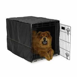 "Quiet Time Crate Cover Black Polyester 36"" x 23.5"" x 24"""