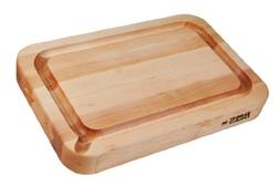 John Boos Block RAD03-GRV-S Maple Wood Reversible Cutting Bo