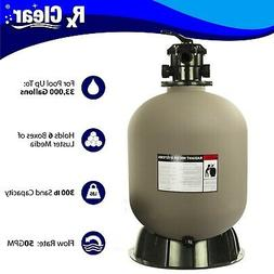 Rx Clear Radiant Swimming Pool Sand Filter with 6-way Valve,