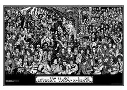 Rock n Roll Theater Art Print Poster 36x24 inch