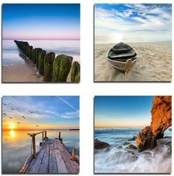 Wieco Art - Seaview Modern Seascape Giclee Canvas Prints Art