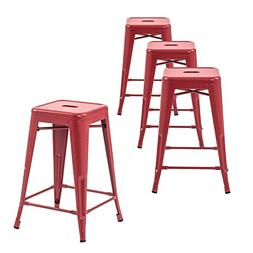 Buschman Counter High Tolix-Style Metal Bar Stools, Indoor/O